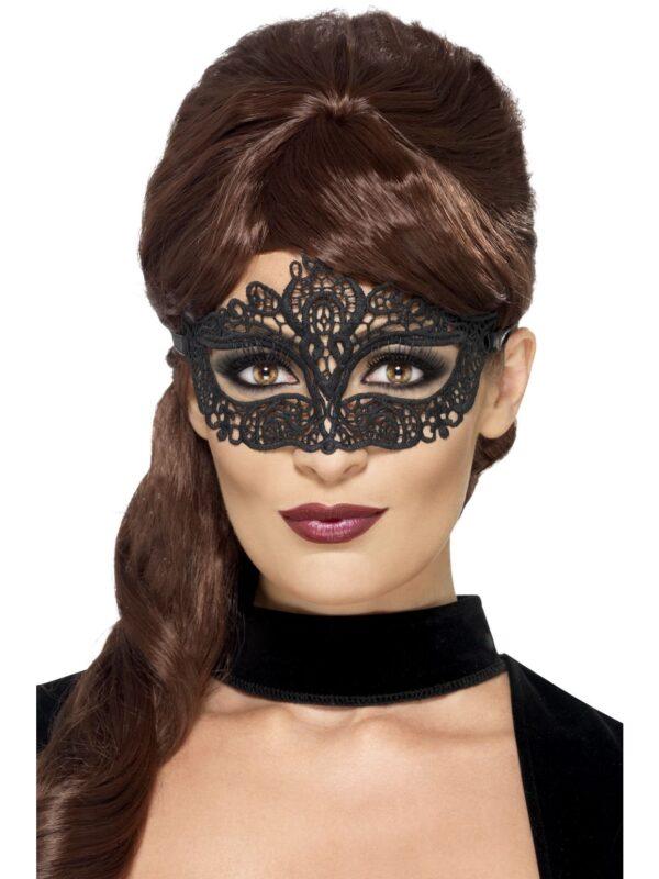 black lace eye mask masquerade accessories sunbury costumes