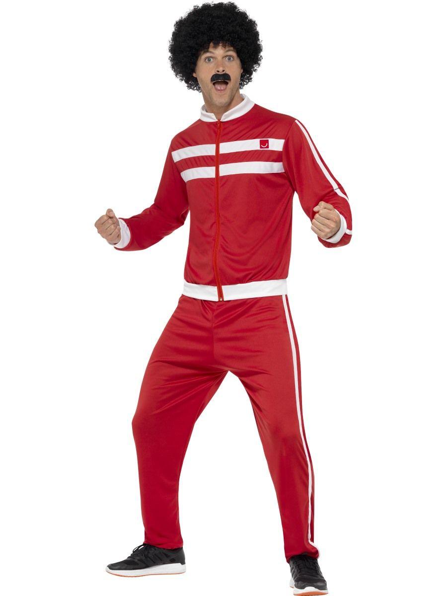 red white tracksuit 80s men costume sunbury costumes