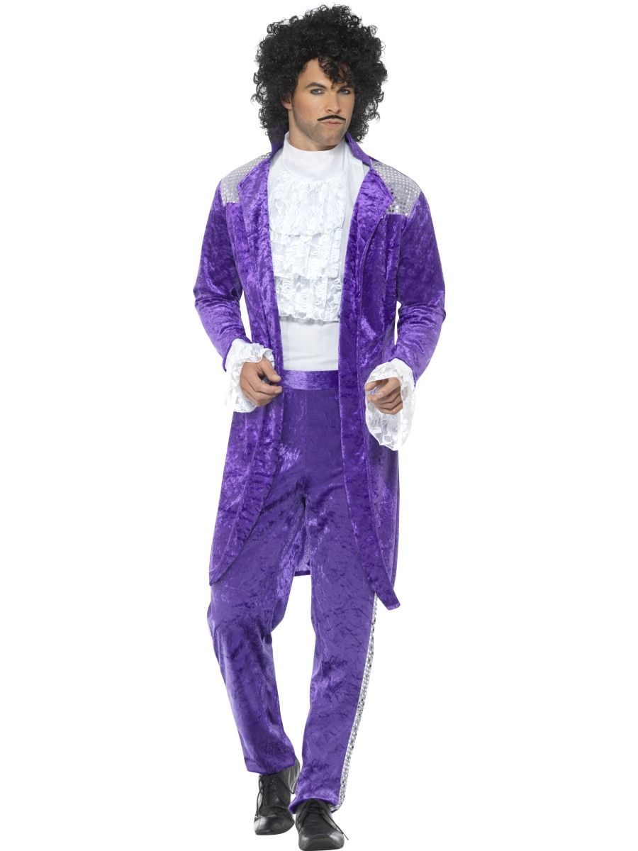 prince purple costume 80s musician character male costumes sunbury costumes
