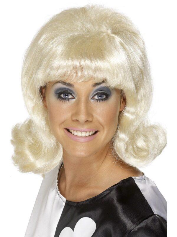blonde 60s flick up ladies wig sunbury costumes