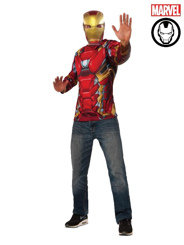 iron man costume top tee digital print long sleeve marvel movie sunbury costumes