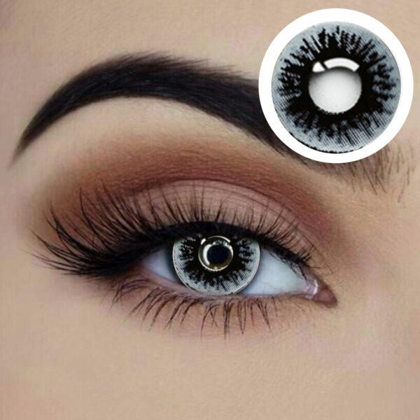 inked coloured lenses black white grey starry eyed eye acessories sunbury costumes