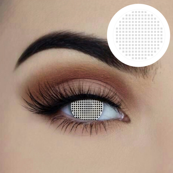 white mesh coloured contact lens 1 year disposable eye accessories sunbury costumes