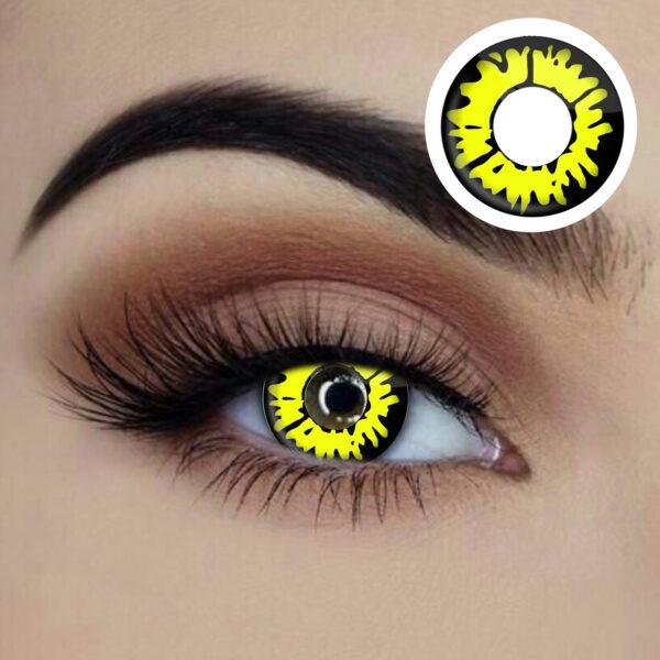 raptor yellow reptile coloured lenses 1 year disposable sunbury costumes