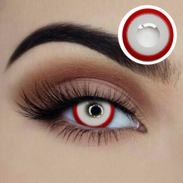 crazed coloured lenses starry eyed red and white eye accessories sunbury costumes
