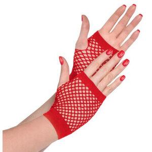 red short fishnet gloves 80s accessories sunbury costumes