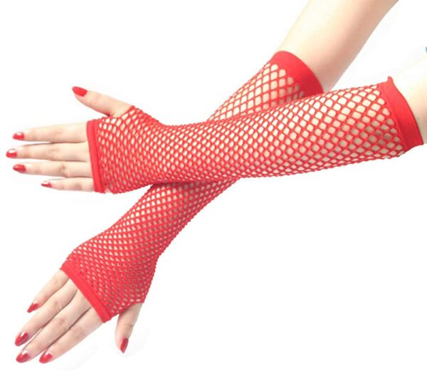 long red fishnet gloves accessories sunbury costumes