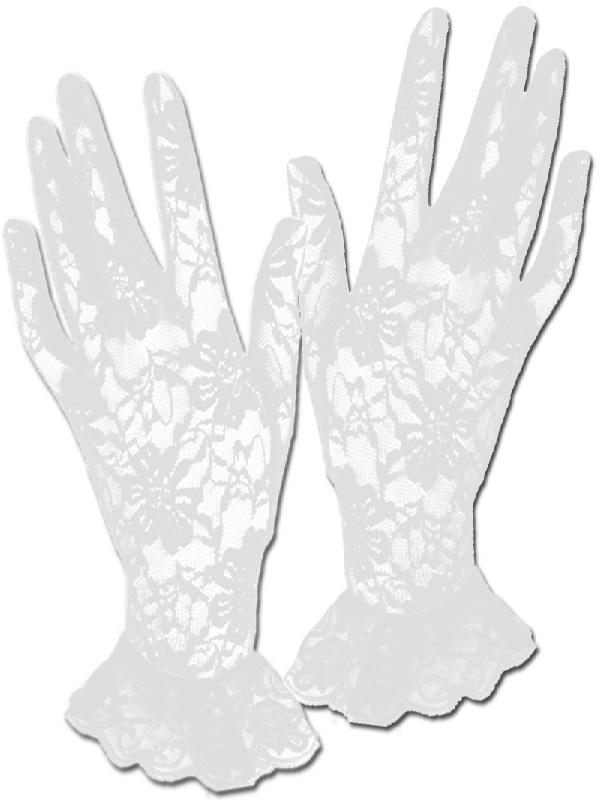 white lace short gloves vintage flapper 20's 80's accessories sunbury costumes
