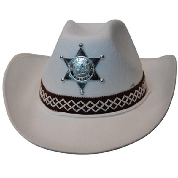 white sherif cowboy feltex hat sunbury costumes