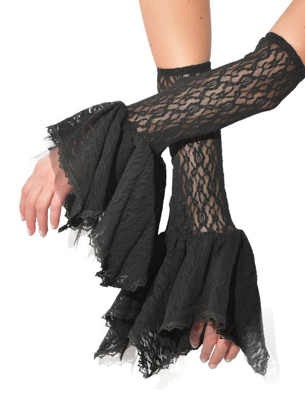 black lace guantlets gloves halloween gothic accessories sunbury costumes