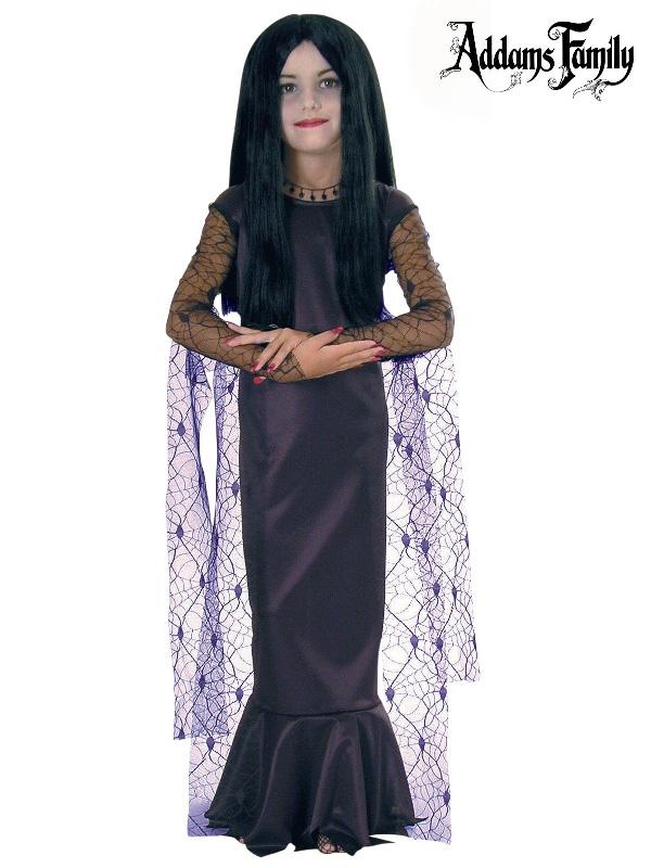 morticia addams the addams family child costume sunbury costumes