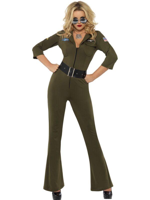 top gun jumpsuit costume ladies movies 80s sunbury costumes
