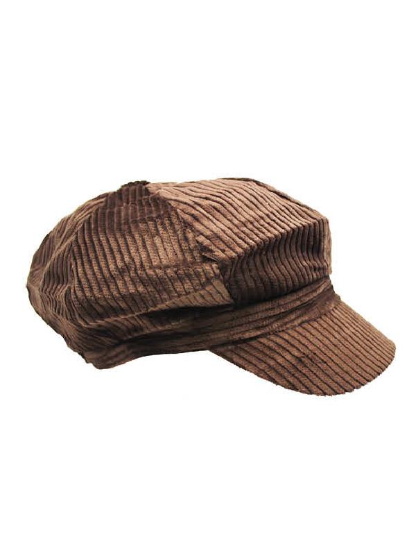 paper boy cap dark brown corduroy sunbury costumes