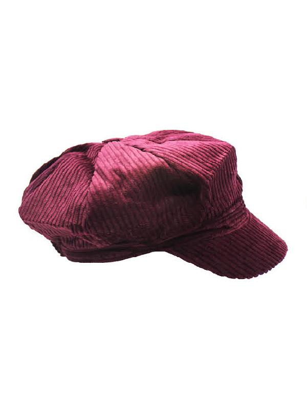 paper boy cap corduroy maroon sunbury costumes