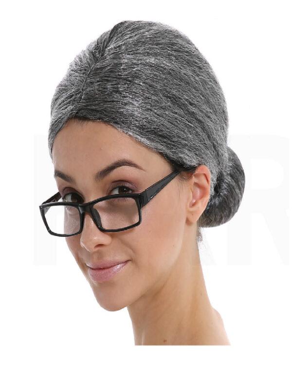 grandma grey bun wig sunbury costumes